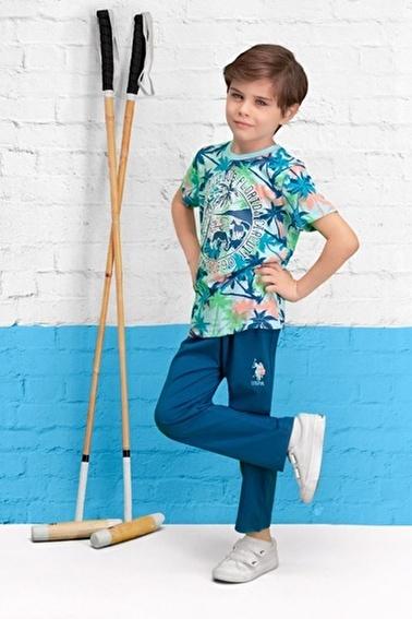 U.S. Polo Assn. Lisanslı Erkek Çocuk Pijama Takımı Mavi